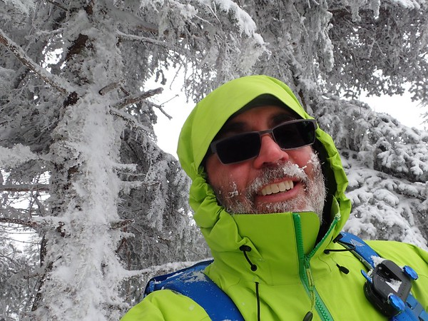 3/9/17 - Mt Waumbek in March with Eddy