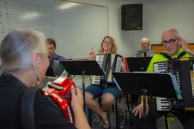 7.25: Accordian class, Creative Writing, Cabaret class, Posture, Tai Chi, LunchBites - Steel Drums