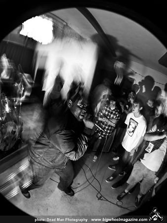 Bad Reaction farewell gig with Gestapo Khazi, Gross Negligence, Knives - No Spectators – Unity Church Basement - Long Beach, CA - December 12, 2009
