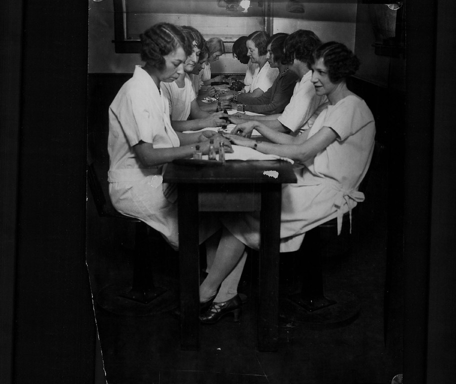 . Manicure training at Emily Griffith Opportunity School in Denver, 1920s. Denver Post Library photo archive