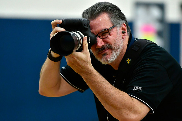 11/8/2018 Mike Orazzi | Staff TJ Dowling during the Class L Second Round State Girls Volleyball Tournament in Bristol Thursday night.