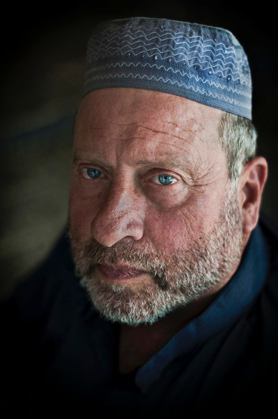 Jewish man turned muslim.  Jerusalem, Israel, 2012.