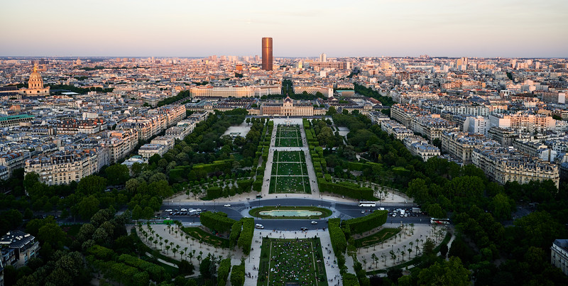 Champs de Mars, Montparnesse tower and Invalides.