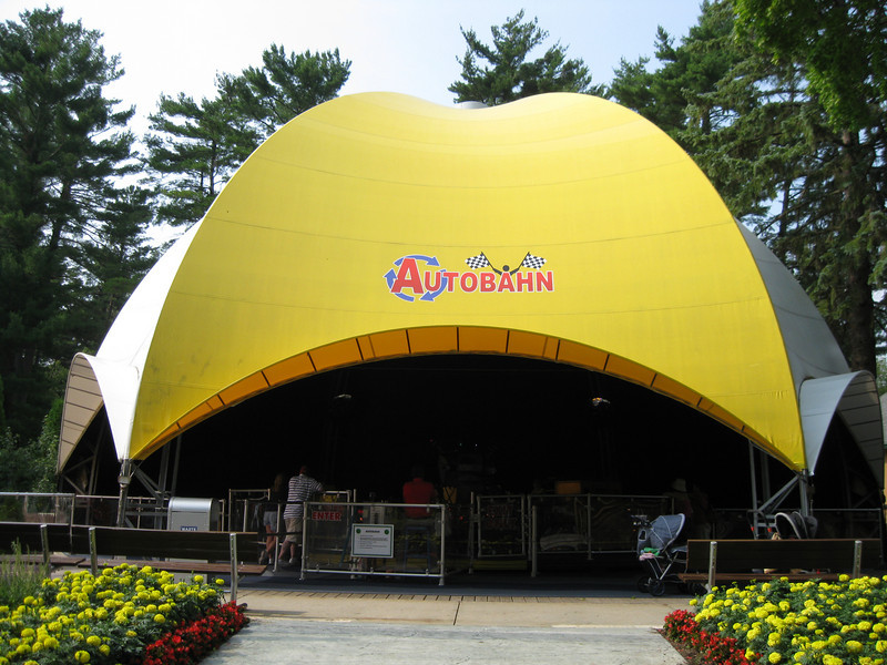 New signage was put on Autobahn's tent roof.