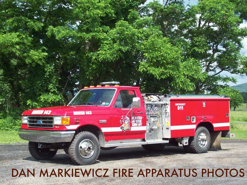 BEAVER TWP. FIRE CO. BRUSH 143 1990 FORD/READING BRUSH UNIT