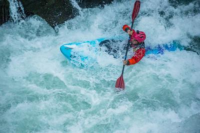 Kayaking Benham Falls
