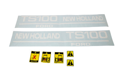 FORD NEW HOLLAND TS 100 SERIES BONNET DECAL SET
