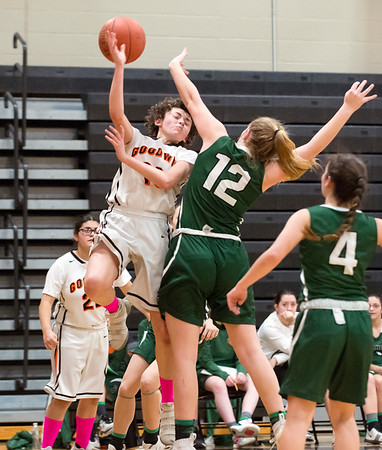 03/03/20 Wesley Bunnell | StaffrrThe EC Goodwin girls basketball team took on Griswold on Monday night March 3, 2020. Ericka Aponte (13).