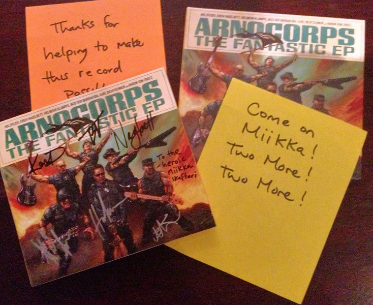 Heroic CD delivery from @arnocorps!
