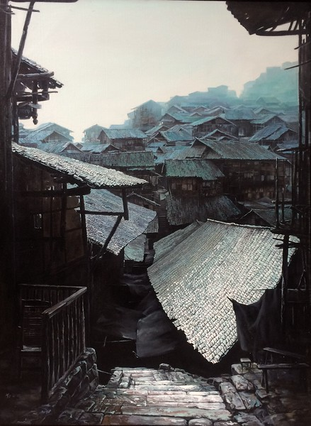 """""""First Frost"""" (oil on linen) by Zongtao Deng"""