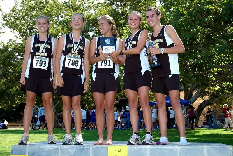 The Mountain View High sophomore girl's team won the team competition.