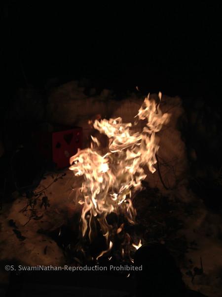 Yagna Fire on Mt. Shastha, Christmas Eve, 2012
