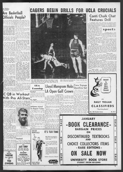 Daily Trojan, Vol. 42, No. 65, January 09, 1951