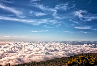 """""""From Above the Clouds"""" (digital photo on metal paper) by Robert Bolla"""