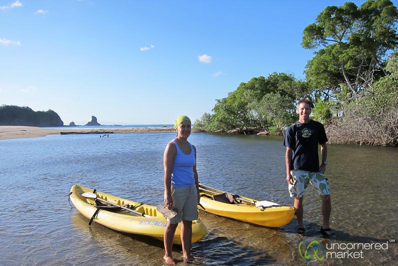 Dan & Selena Out Kayaking & Bird Watching - Morgan's Rock, Nicaragua