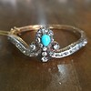 2.65ctw Victorian Turquoise and Rose Cut Diamond Tiara Bangle 13