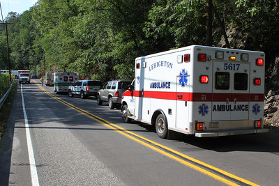 Motorcycle Accident, Man Lifeflighted, Tuscarora Park Road, Tamaqua (7-31-2011)