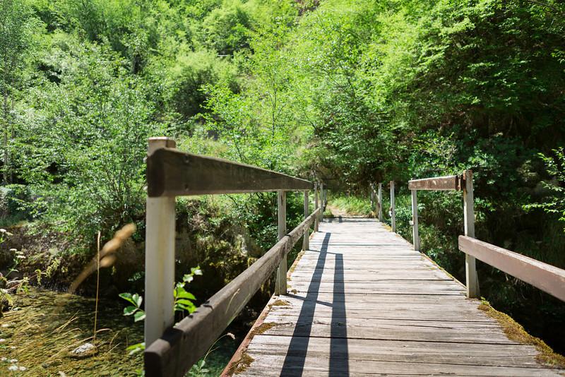 Wooden bridge over the river at Bastašica