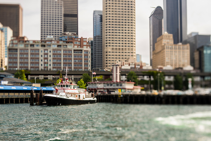 Seattle's Waterfront from the Ferry