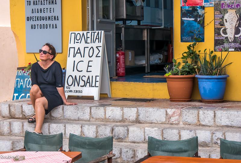 Woman at cafe , Hydra.jpg