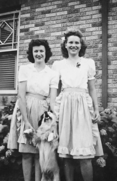 Barbara McRae and Maria Jacob 1944 1102 Omar Houston, Texas