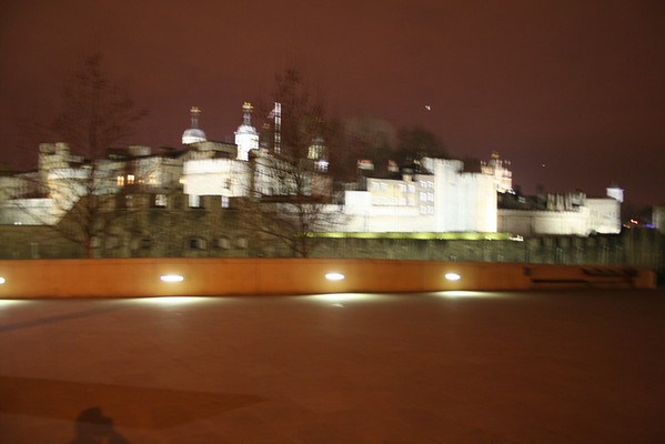 Tower of London, Tower Bridge and surrounding area at night