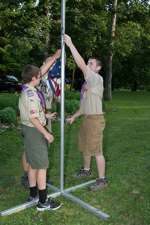 Scout Troop 1600 Flag Retirement Ceremony June 14,2017