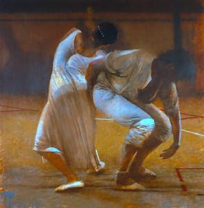Dancers in White     (Price: $1200.00)
