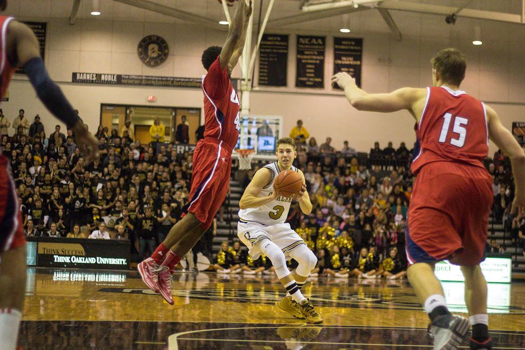 . Bader jukes his defender. Photos by Dylan Dulberg/The Oakland Press