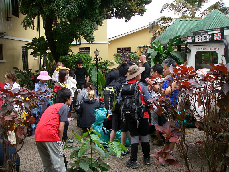 Gathering in Springland Hotel in Moshi, Tanzania. July 26, 2008. Elevation 845 m