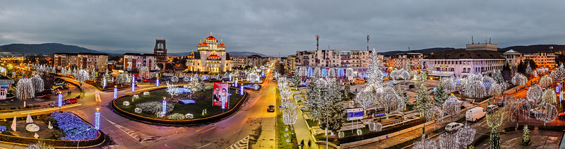 Cristmas lights in Mioveni