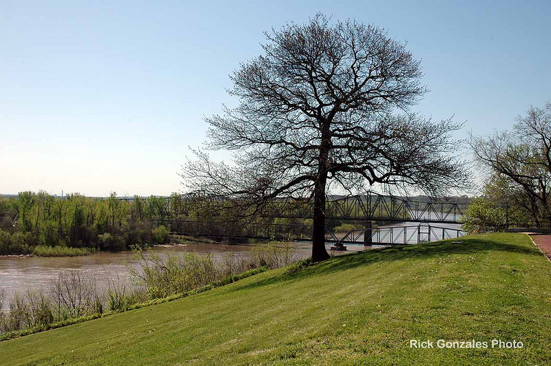 Along the Missouri River in Atchison, KS, at Amelia Earhart's birthplace.