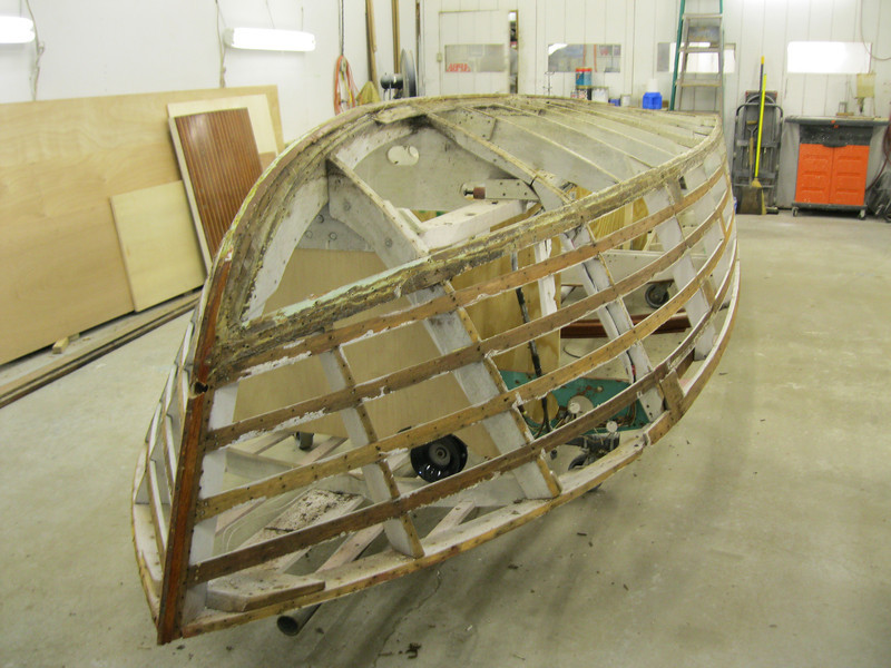 Front starboard view of side planks removed.