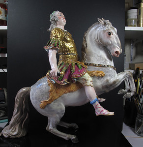 Meissen porcelain figure (King on the Horse)