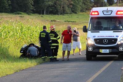 Motorcycle Crash, Man Lifeflighted, 900 block of Valley Road, Tamaqua, Walker Township (8-24-2014)