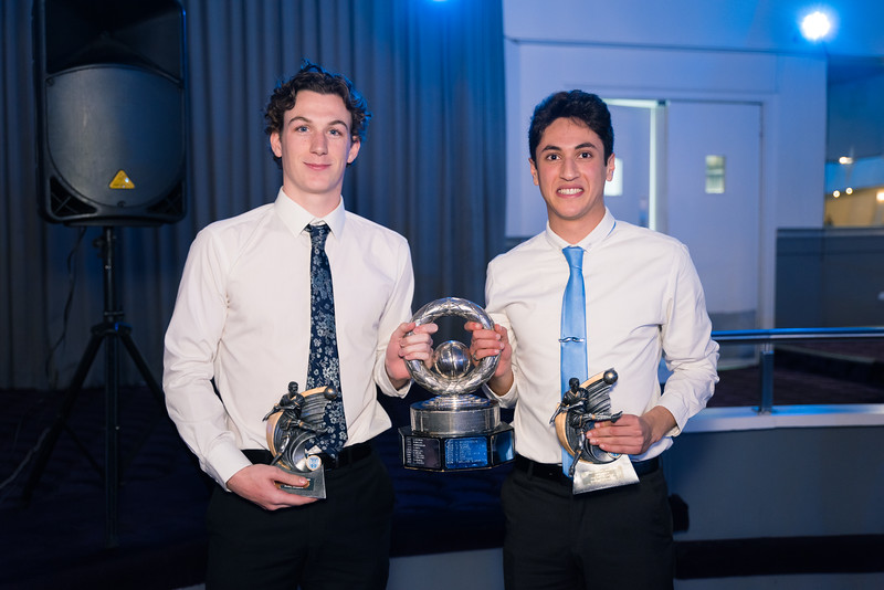 The mens seniors Best and Fairest - joint winners - Todd Wallace and Sarmad Nikakhter