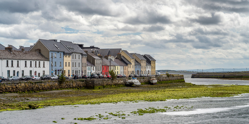 Houses along waterfront, Galway, County Galway, Ireland
