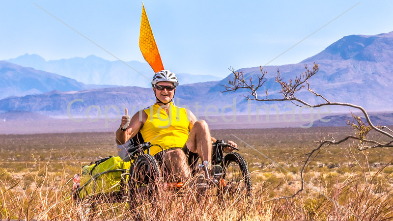 1-E)  Cyclist Close-Ups - Smiles - Death Valley