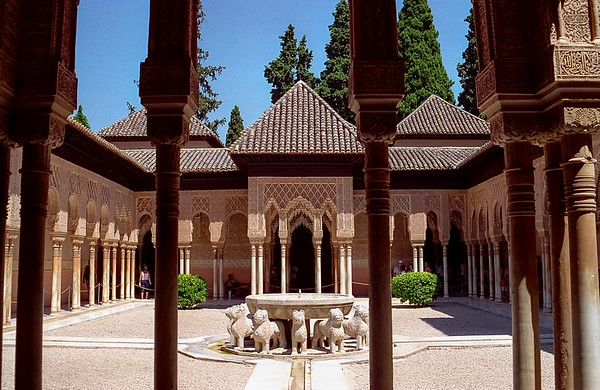 Court of Lions, Alhambra, Granada, Spain