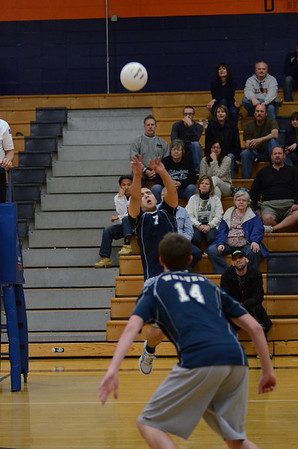 Oswego East boys Varsity Volleyball  Vs Oswego 2012