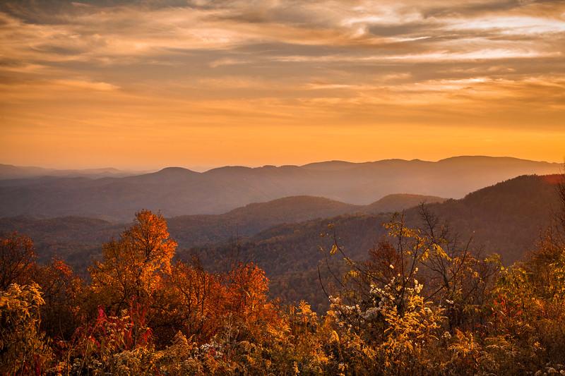 Blue Ridge Parkway Autumn Sunset