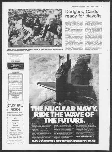 Daily Trojan, Vol. 100, No. 27, October 09, 1985