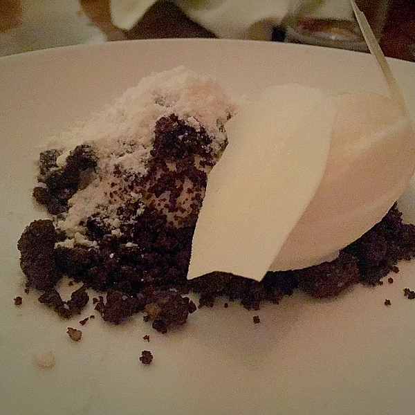 """Panna cotta with coffee """"soil"""" -- thinking of you all @alphamom @mom101 @blurb"""