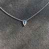 0.48ct 18kt White Gold Rose Cut Bezel Pendant 6