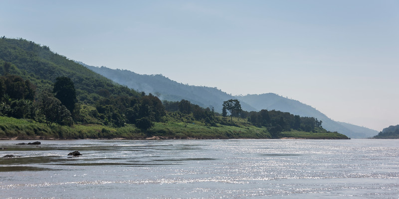 Scenic view of riverbank along the River Mekong, Bokeo Province, Laos