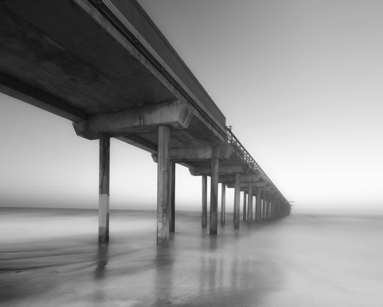 Black and White of Scripps Pier La Jolla - One of my favorite subjects to photograph at Sunrise and Sunset. A peaceful place.