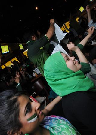Pakistan vs. India Cricket semi-final at the Rathskellar