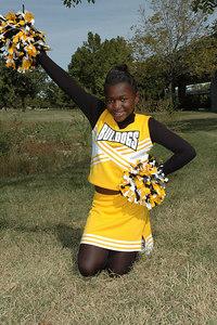 7th grade Bulldogs Cheerleaders Oct 2006