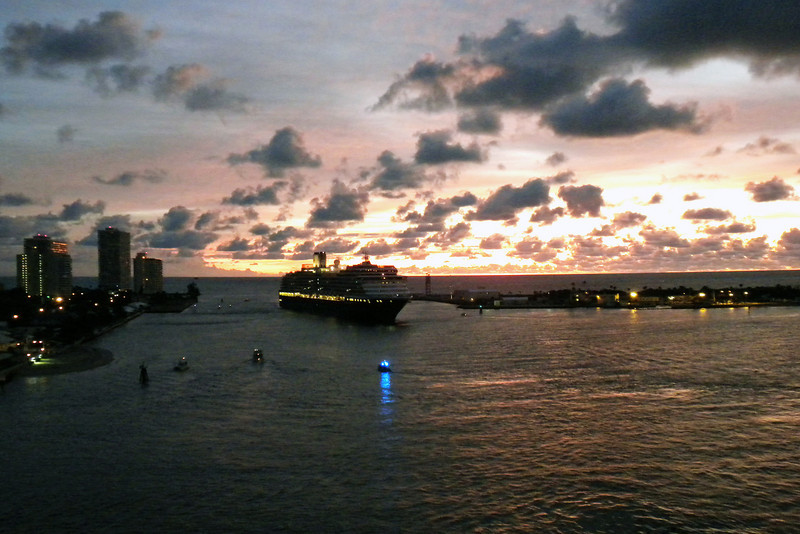 Early morning in Ft. Lauderdale as the cruise ships return to port
