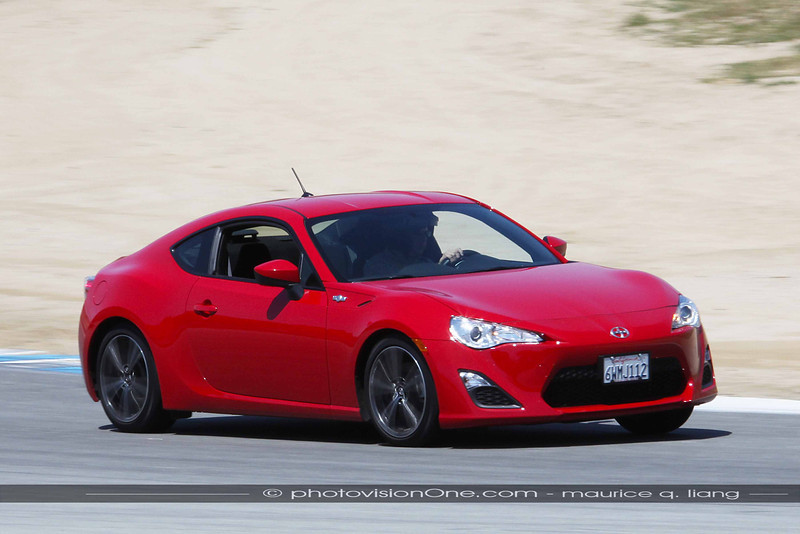 Scion FRS with manual transmission is fun on the track.